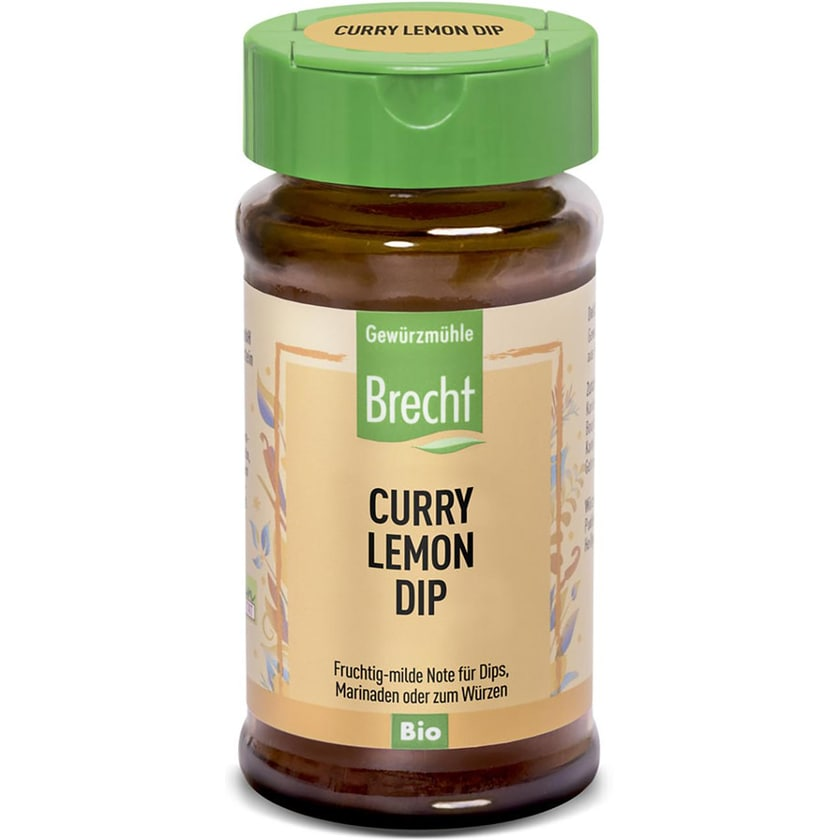 Brecht Curry Lemon Dip Glas 40g