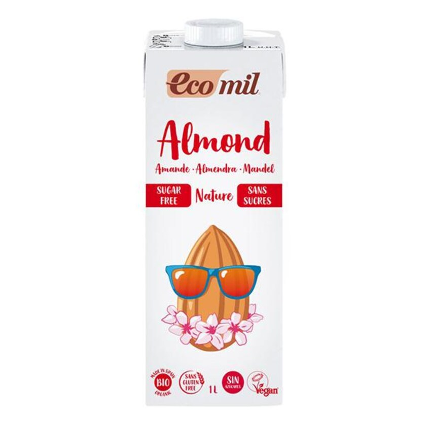 EcoMil Bio Mandeldrink Natur ungesüßt 1l
