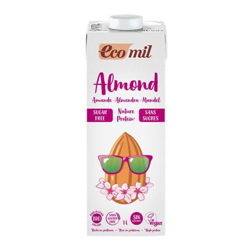 EcoMil Mandeldrink Zuckerfrei Protein 1l Bio