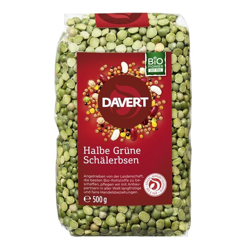Davert Bio Halbe Grüne Schälerbsen 500g