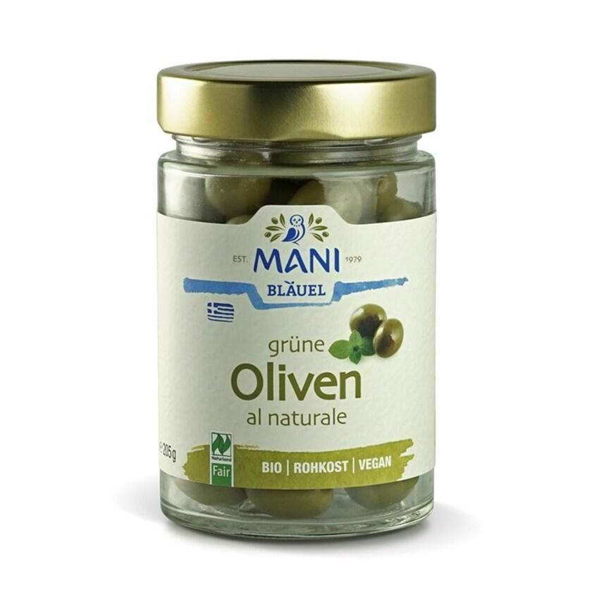 Mani Bläuel Grüne Oliven al naturale 205g