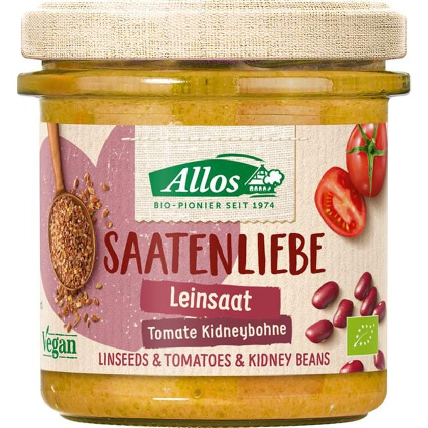Allos Saatenliebe Leinsaat Tomate Kidneybohnen 135g