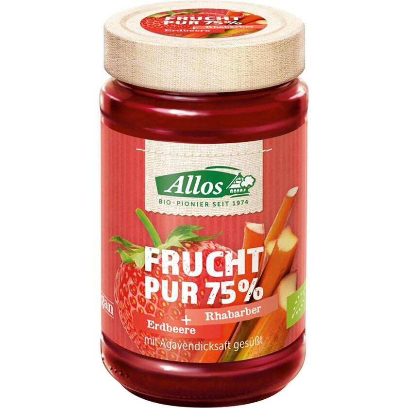 Allos Erdbeer-Rhabarber Frucht Pur 250g