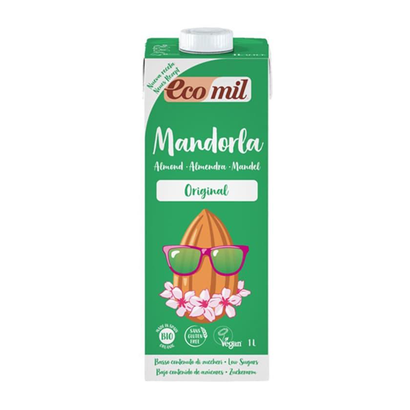 Ecomil Bio Mandeldrink Original gesüßt mit Agavendicksaft 1l