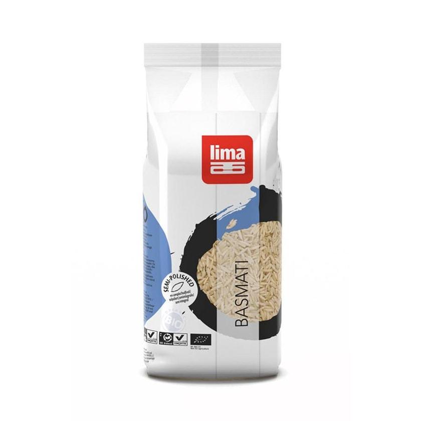 Lima Reis Basmati Halb-Poliert 500g Bio