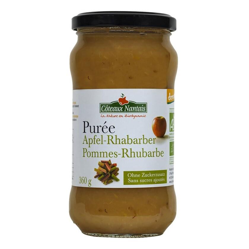 Côteaux Nantais Püree Apfel-Rhabarber 360g Bio