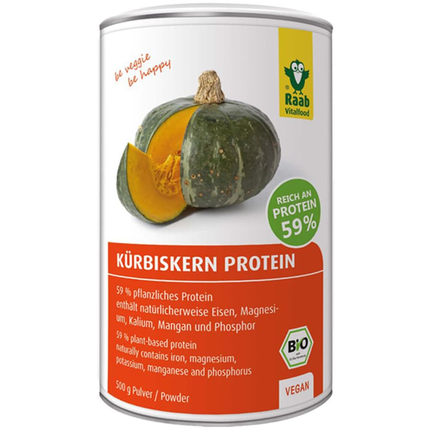 Raab Vitalfood Bio Kürbiskern Protein Pulver 500g