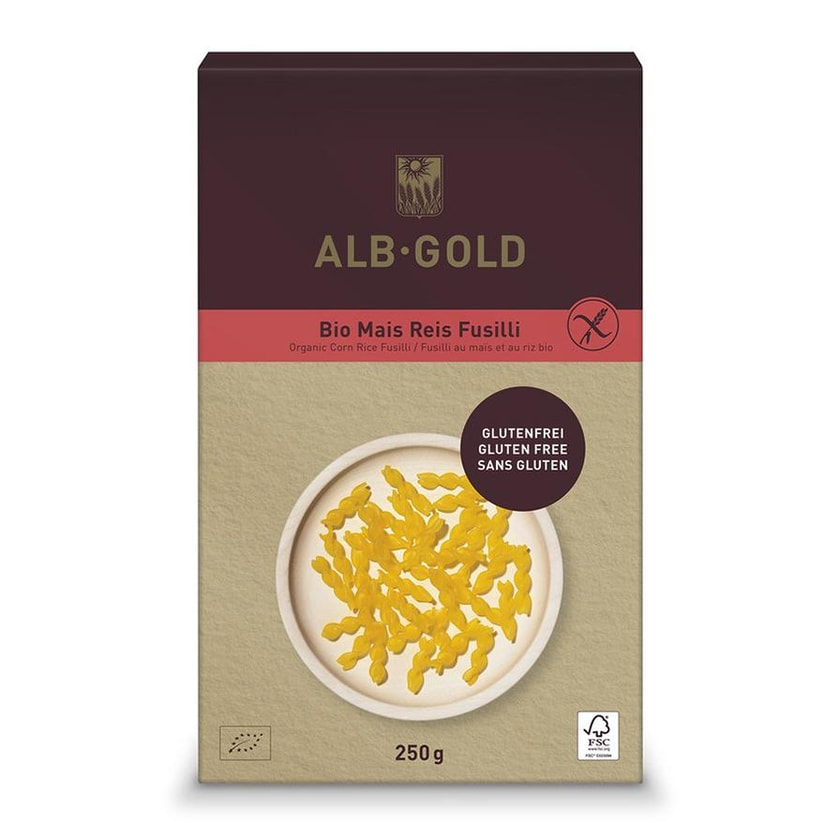 ALB-GOLD Fusilli Mais Reis Papier 250g