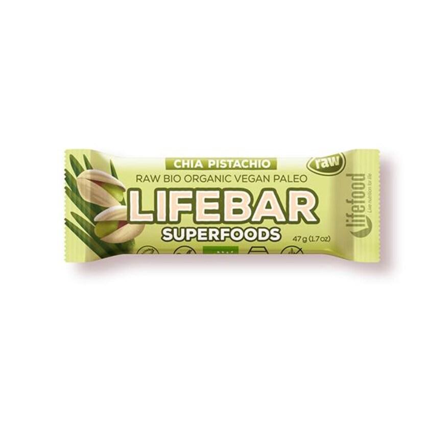 Lifefood Lifebar Plus Chia & Young Barley Bio 47g