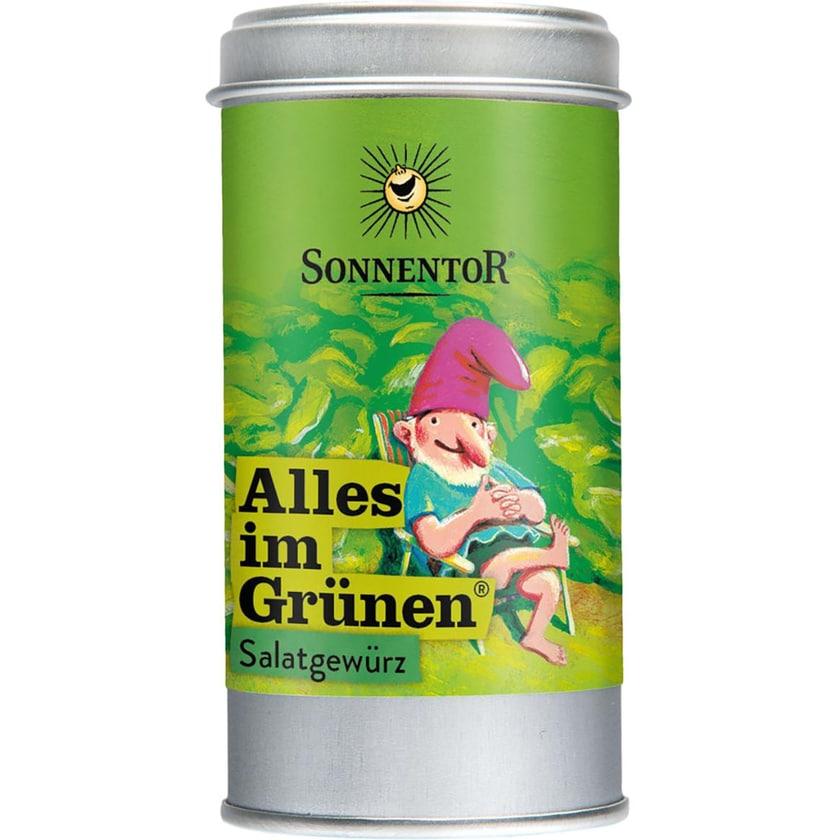 Sonnentor Alles im Grünen Salatgewürz, Dose 15g Bio