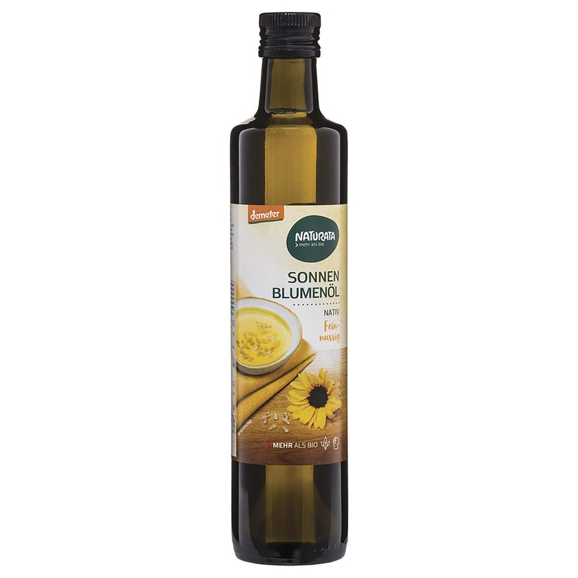 Naturata Sonnenblumenöl demeter, nativ 500ml Bio