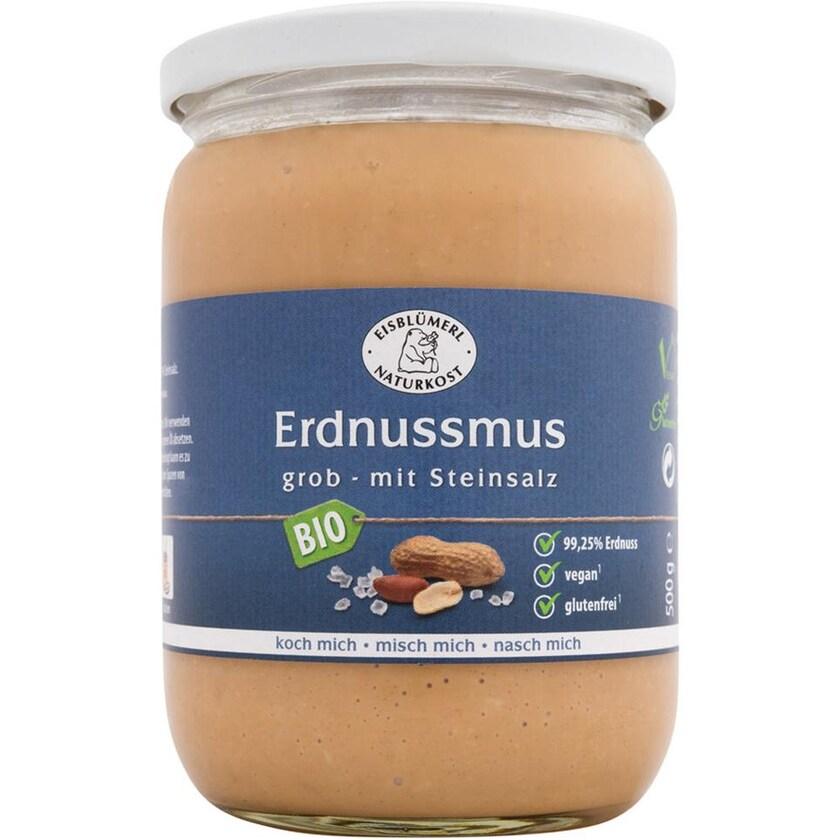 Eisblümerl Erdnussmus grob mit Steinsalz 500g