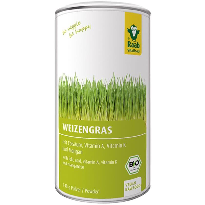 Raab Vitalfood Bio Weizengras Pulver 140g