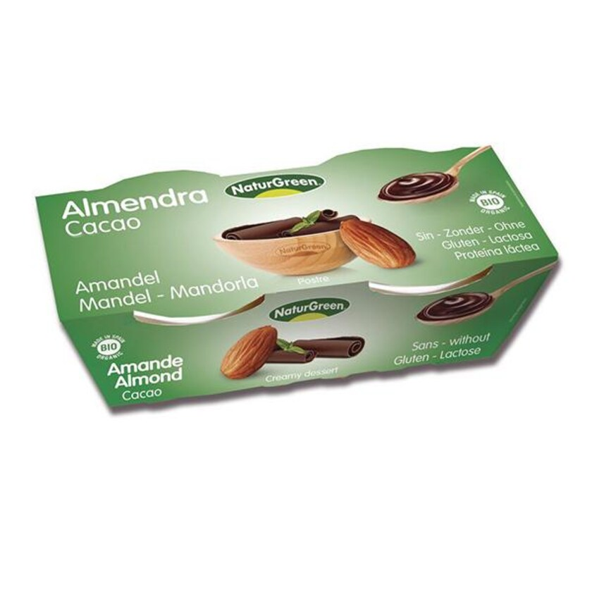 NaturGreen Mandel Kakao Dessert 2x 125g Bio