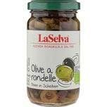 LaSelva Oliven a rondelle - grüne und dunkle Oliven in Scheiben 210g Bio