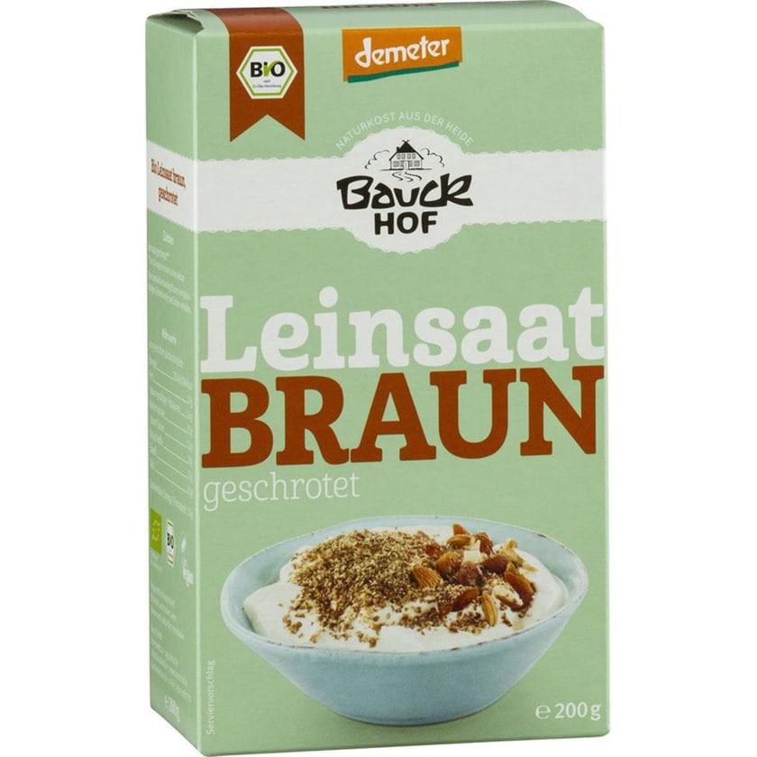 Bauckhof Leinsaat geschrotet Demeter 200g Bio