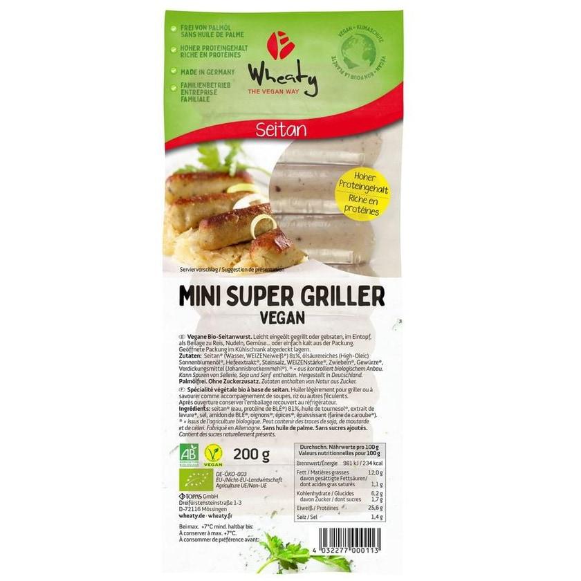 Wheaty Bio Mini Super Griller 200g