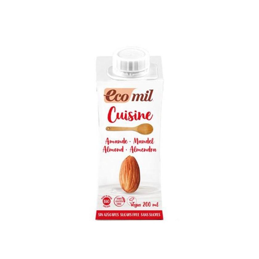 EcoMil Mandel Cuisine zuckerfrei 200ml Bio