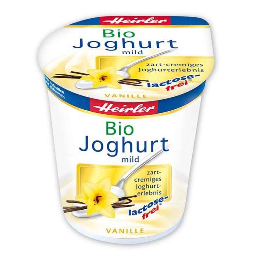 Heirler Joghurt mild, Vanille, bio, lactosefrei 150g