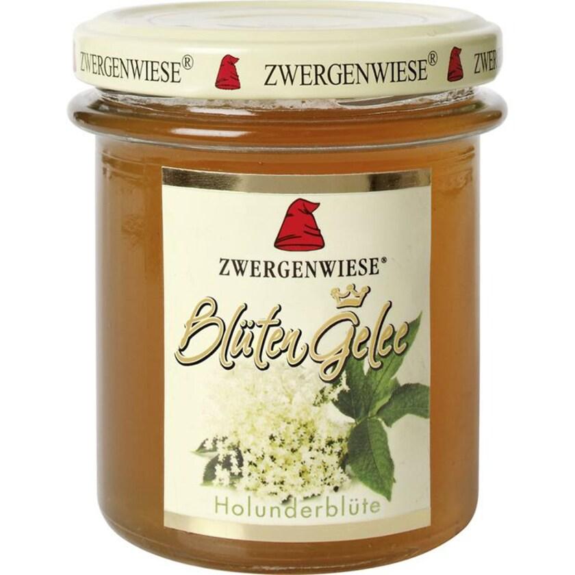 Zwergenwiese Bio Frucht Gelee Holunderblüte 195g