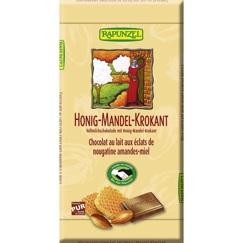 Rapunzel Vollmilch Schokolade Honig-Mandel-Krokant 100g