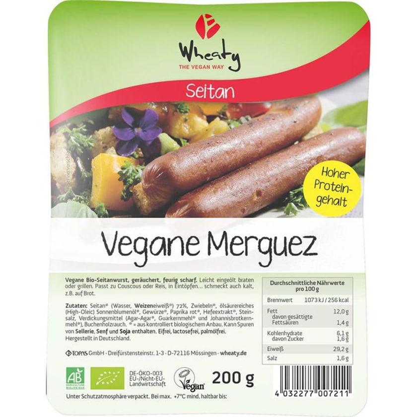 Wheaty Bio Veganwurst Merguez 200g