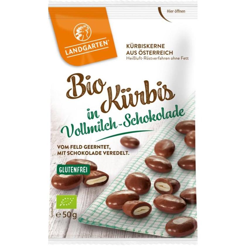 Landgarten Kürbis in Vollmilch-Schokolade 50g