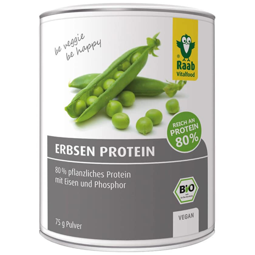Raab Vitalfood Erbsen Protein Pulver 75g