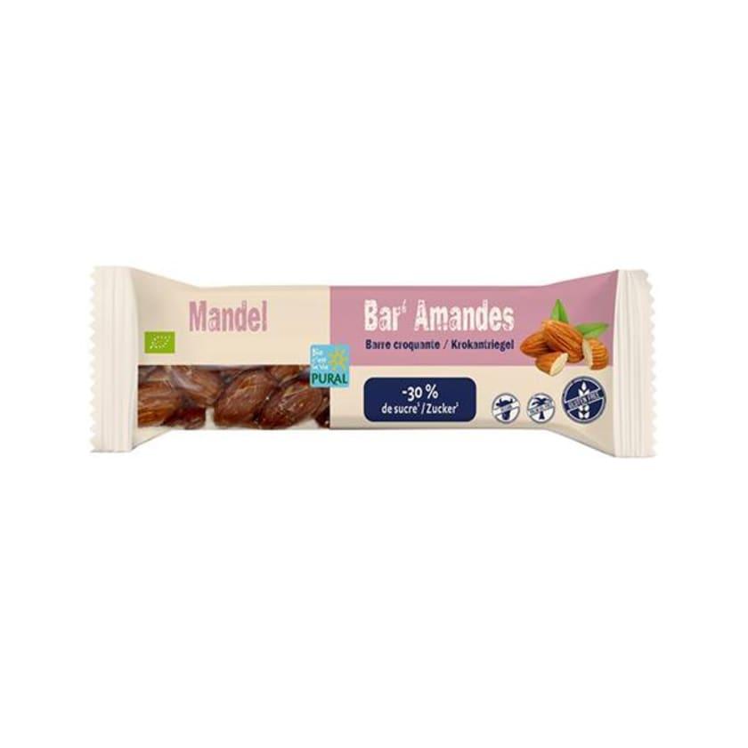 Pural Mandel Bar less sugar Riegel 35g