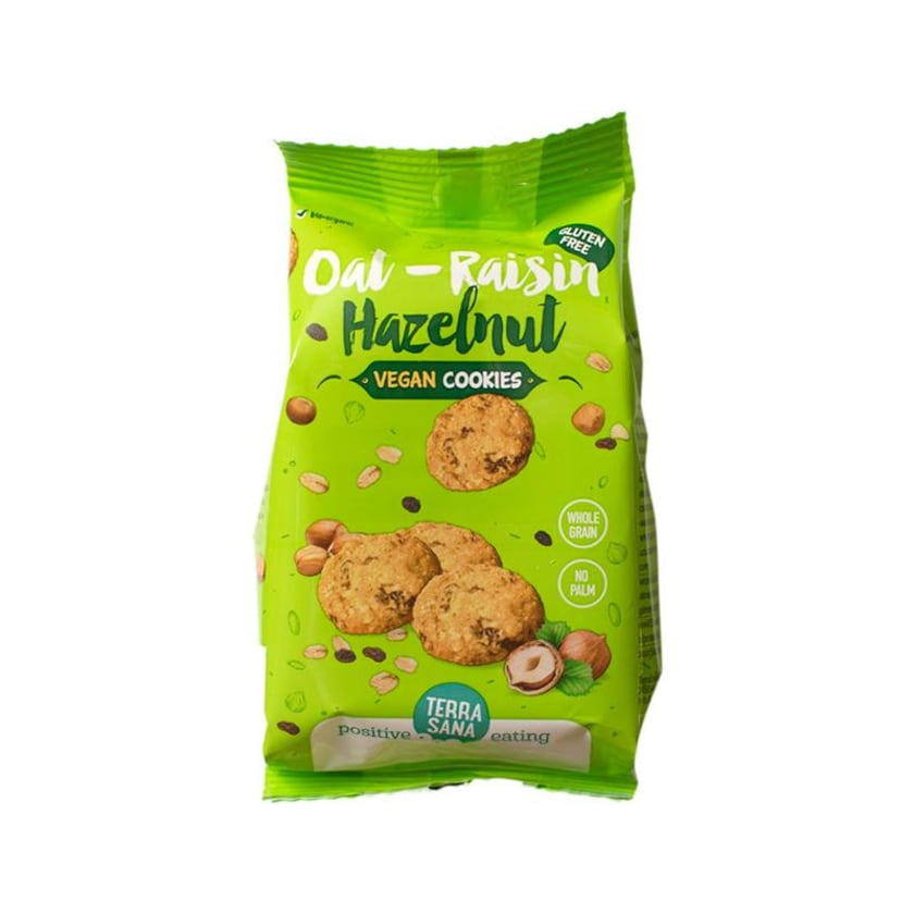 Terrasana Hafer Rosinen & Haseln. Cookies Veg 150g
