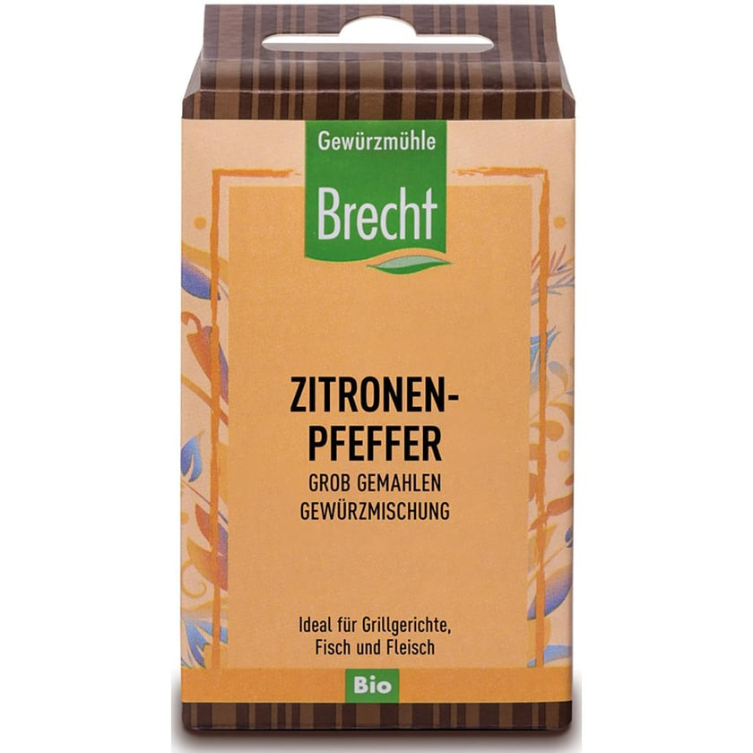 Brecht Zitronenpfeffer grob gemahlen - Nachfüllpack 40g