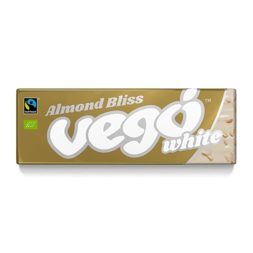 Vego Chocolate White Almond Bliss weiß mit Mandeln 50g Bio