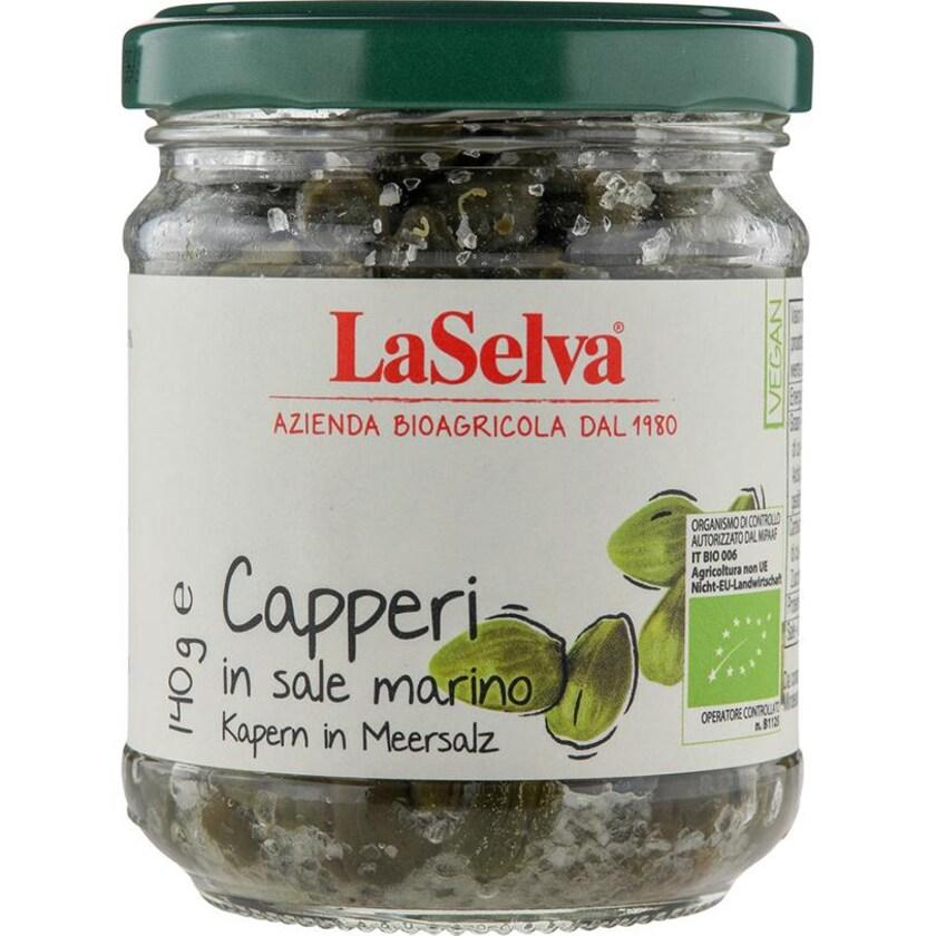 LaSelva Kapern in Meersalz 140g Bio