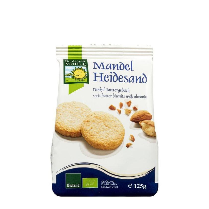 Bohlsener Mühle Mandel-Heidesand Dinkel-Buttergebäck 125g Bio