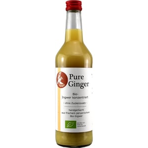 Tj-Foodmanufactur Pure Ginger Bio Ingwer Konzentrat 500ml