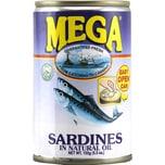 Mega Sardines in Natural Oil Sardinen in Öl 155g