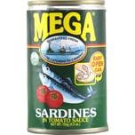 Mega Sardines in Tomato Sauce Sardinen 155g