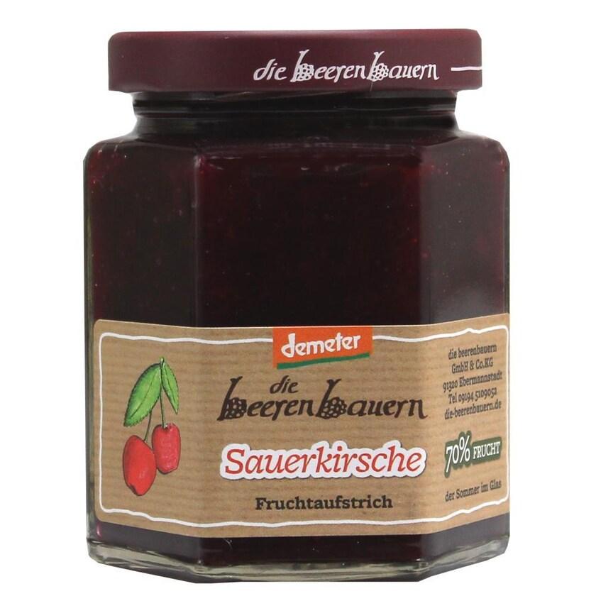 demeter die beerenbauern Bio Sauerkirsche Fruchtaufstrich 200g