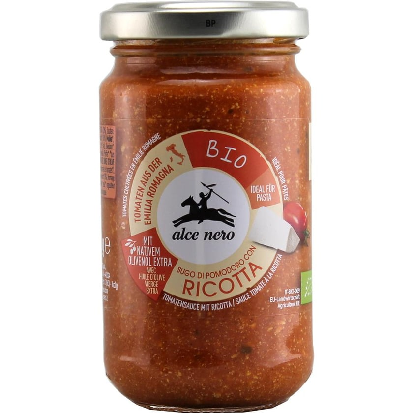 Alce Nero Ricotta Biologico Tomatensauce Käse 200g