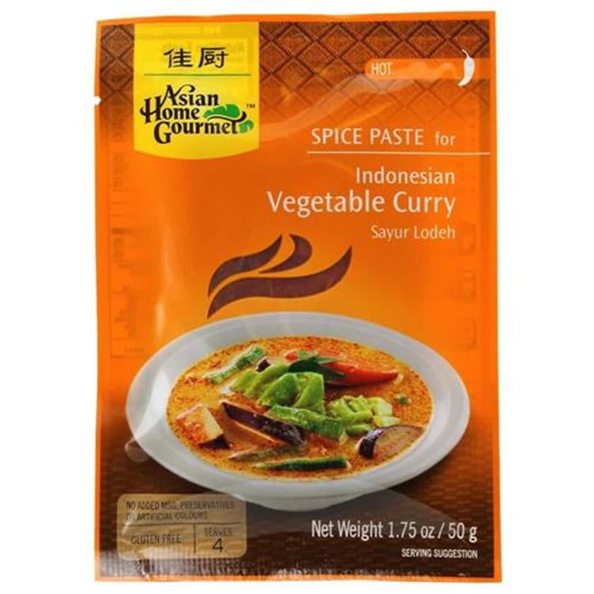 Asian Home Gourmet Würzpaste Indonesian Vegetable Curry Sayur Lodeh 50g