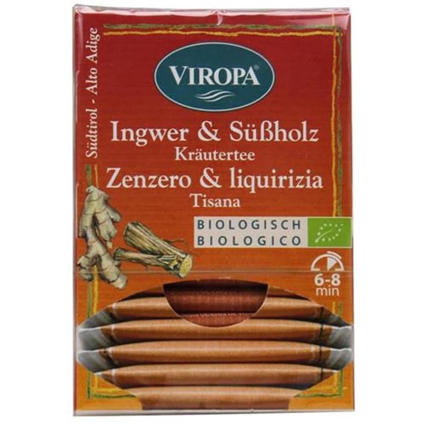 Viropa Ingwer & Süßholz Kräutertee Bio 22,5g