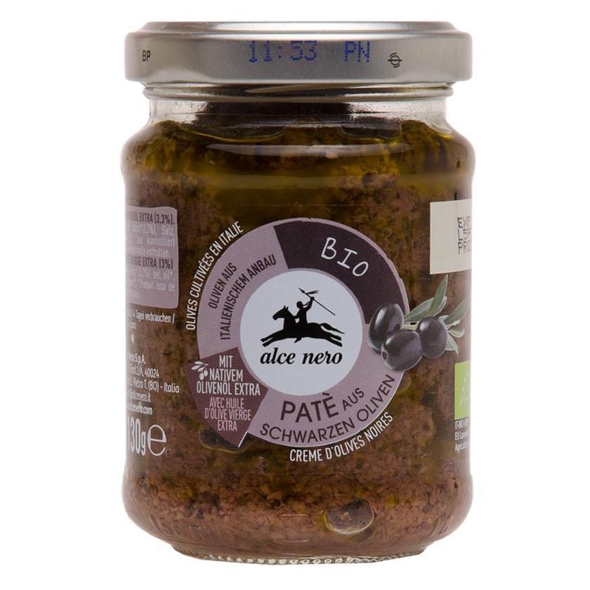 Alce Nero Pate Bio aus Schwarzen Oliven 130g