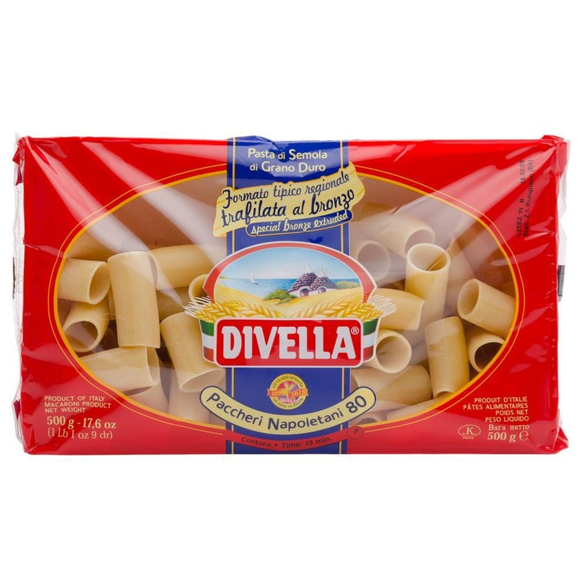 Divella Paccheri Napoletani 80 Nudeln 500g