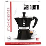 Bialetti Moka Express Nera Kaffeekocher 3 Tassen 1St.