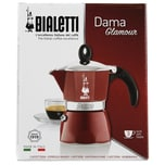 Bialetti Dama Glamour Rot Kaffeekocher für 3 Tassen 1St.