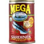 Mega Sardines in Tomato Chili Sauce Sardinen 155g