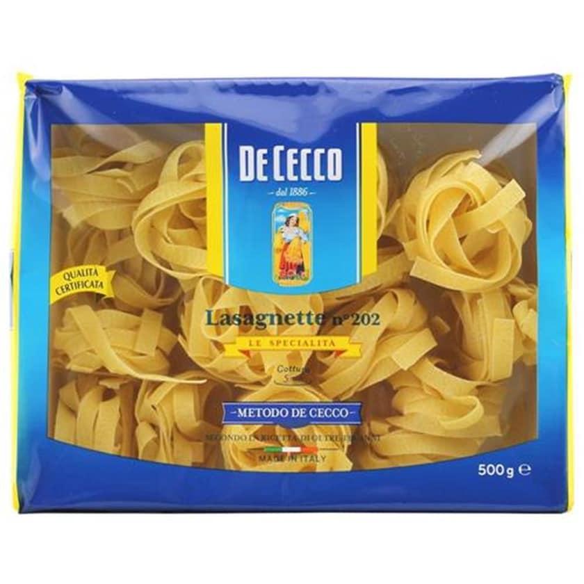 De Cecco Lasagnette n°202 Le Specialita Nudeln 500g