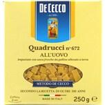 De Cecco Quadrucci n°672 all'Uovo Nudeln 250g