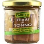 Zarotti Filetti di Tonno all'Olio Ex.Ver. di Oliva Bio Thunfischfilets 104g