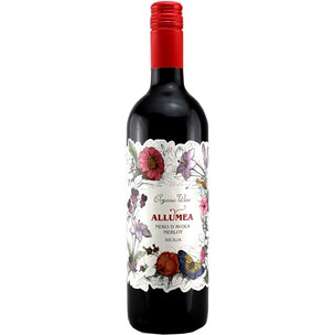 Allumea Nero d'Avola Merlot DOP Sicilia Organic Rotwein 750ml